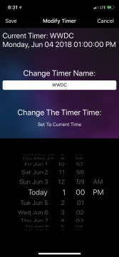 uTime 3 for iOS Modification Screen (iPhone)